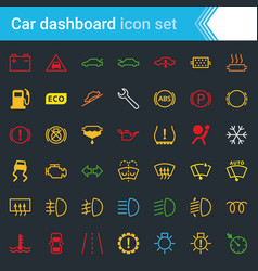 colorful car dashboard interface and indicators vector image