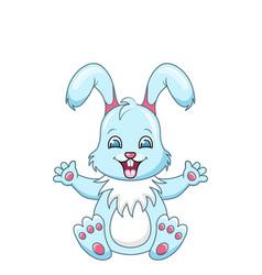 Cute rabbit cartoon boy happy bunny isolated on vector