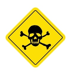 Danger sign with skull symbol Deadly danger sign vector