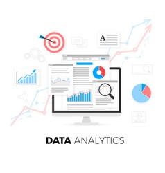 Data analytics information and web development vector