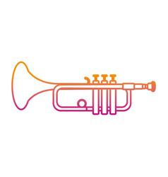 Degraded line music trumpet instrument artistic vector