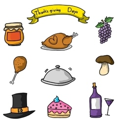 Doodle of thanksgiving icon vector