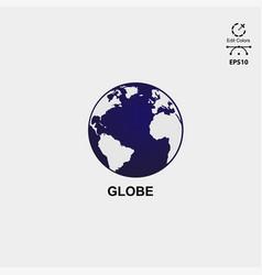 earth logo design concept vector image