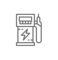 electric car charging station vehicle eco vector image
