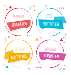 Element set of circle banner image vector