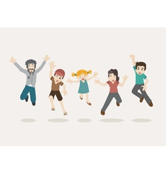 Family jumping eps10 format vector image