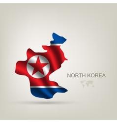 flag north korea as a country vector image