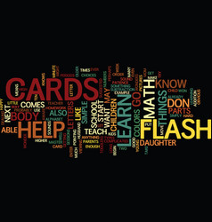 Flash cards text background word cloud concept vector