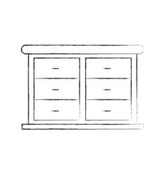 furniture bathroom drawers cabinet wooden vector image