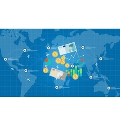 global network financial money business vector image