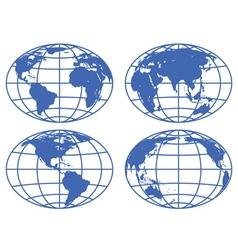 Globe maps vector