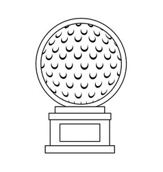golf ball championship award icon vector image