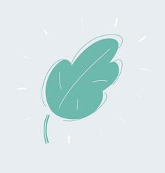 green leave eco symbol set on white vector image