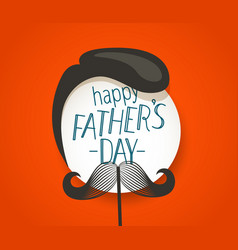 Happy fathers day greeting card with abstract face vector