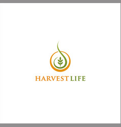 harvest life logo design inspiration vector image