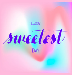 holiday sweetest day logo simple style vector image