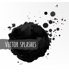 Inky splashes vector