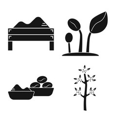 Isolated object process and farming sign vector