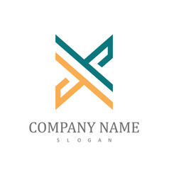 letter x company logo vector image