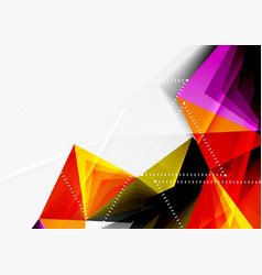 Low poly style 3d triangle line vector