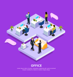 office isometric vector image