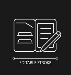 Portfolio folder white linear icon for dark theme vector