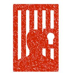 Prison door grunge icon vector