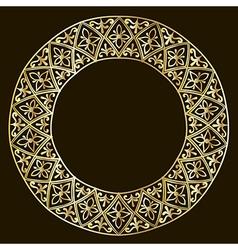 Round gold frame vector