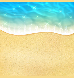 Sea beach or ocean shore sand and waves vector