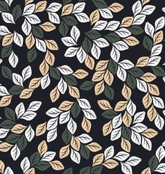 Seamless pattern with elegant leaves vector