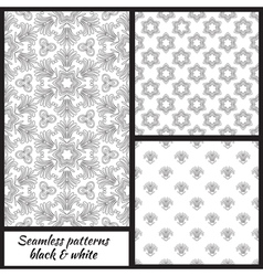 set seamless decorative patterns vector image