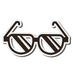 Single glasses icon vector