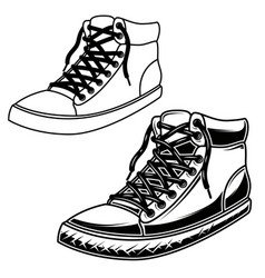 skate sneakers design element for postercard vector image