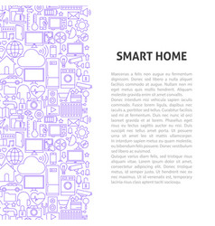 smart home line pattern concept vector image