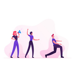social media marketing teamwork cooperation vector image