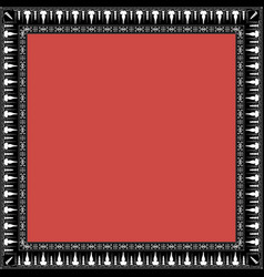 square frame with greek floral ornament ancient g vector image