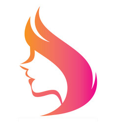 stylized silhouette a woman in profile t vector image