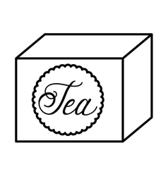 tea box isolated icon design vector image