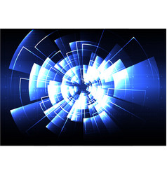 Technological radar light effect background vector