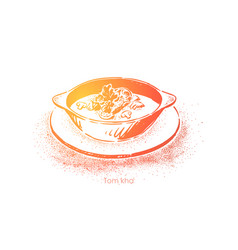tom kha kai traditional thai cuisine hot sour vector image