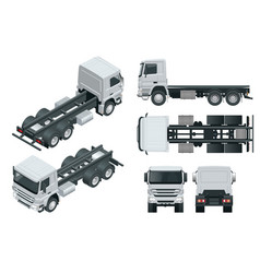 truck tractor or semi-trailer view front vector image
