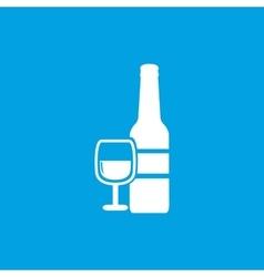 Wine icon white vector