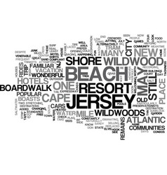 wonderful wildwood new jersey text word cloud vector image