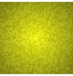 Yellow Mosaic Tile Honeycomb Background vector