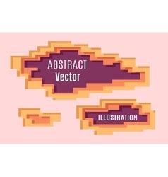 Abstract Pixel layering vector image vector image