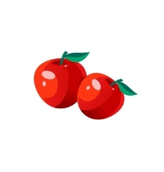 Apples bright color simple vector