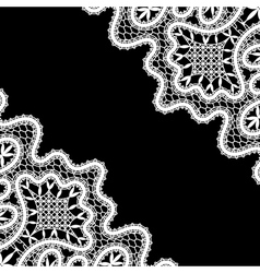 Lace corners on black vector image vector image