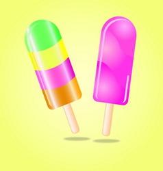 Multi flavour ice cream vector