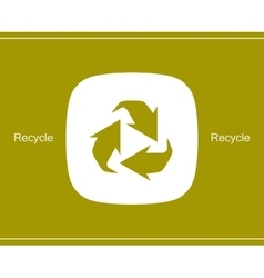 Recycle symbol or sign of conservation icon vector image vector image