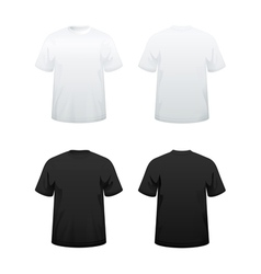 T shirts in white and black vector image vector image